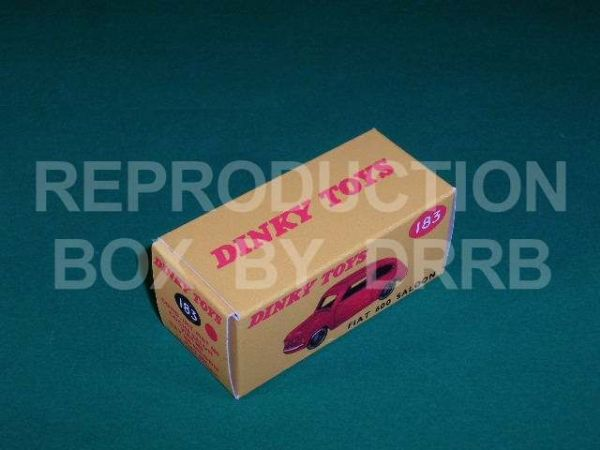 Dinky #183 Fiat 600 Saloon - Reproduction Box ( Red )